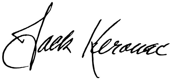Jack Kerouac handtekening